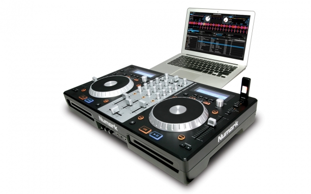 Numark MixDeck Express Premium DJ Controller with CD and USB Playback.