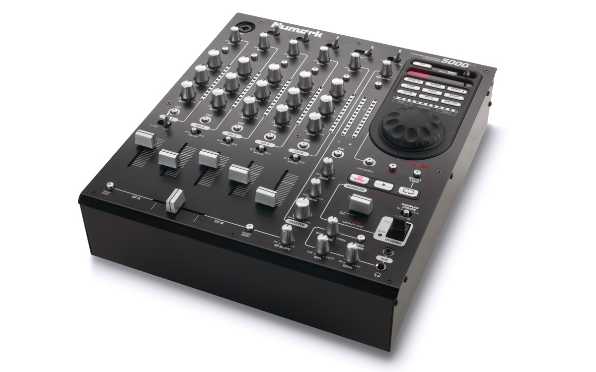 5000FX 5-Channel Scratch Mixer With Effects and Sample | Numark