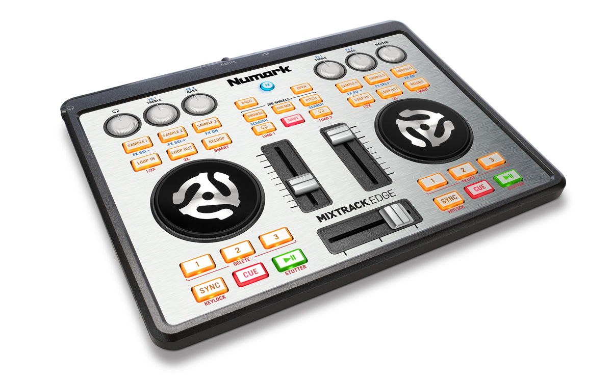 Mixtrack Edge Slimline USB-Powered DJ Controller with Audio Output