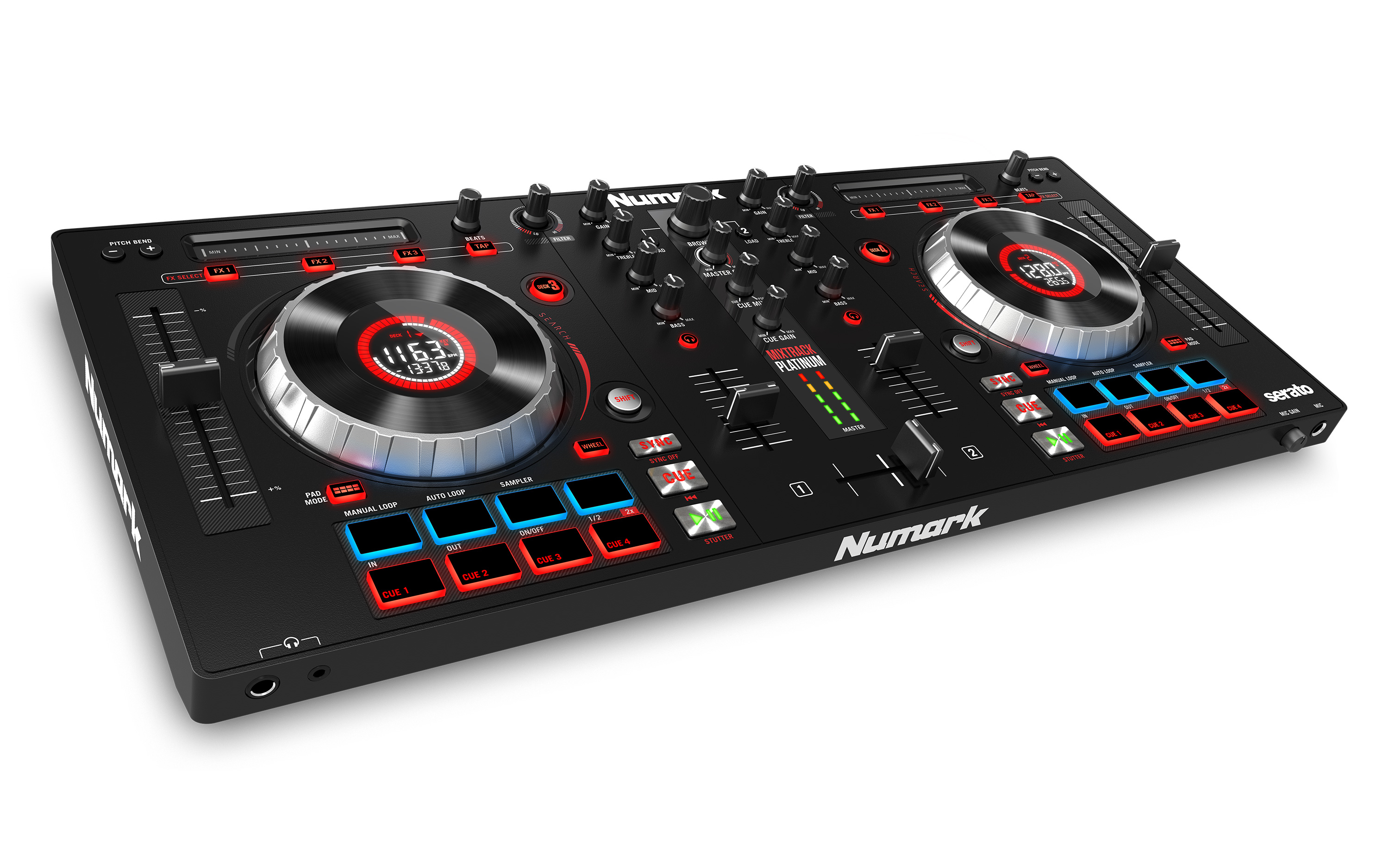 Mixtrack Platinum DJ Controller With Jog Wheel Display | Numark