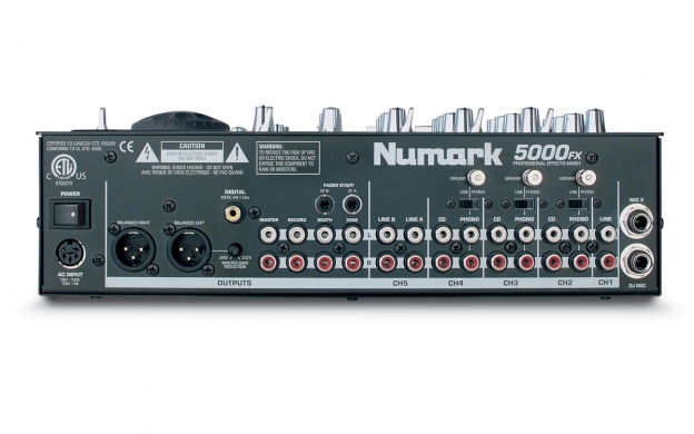 "Amazon. Com: numark 5000fx 12"" 5-channel tabletop dj mixer with."
