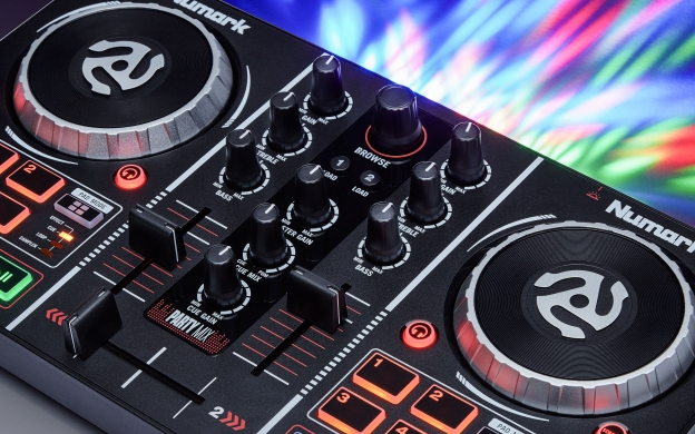 Party Mix DJ Controller with Built In Light Show | Numark
